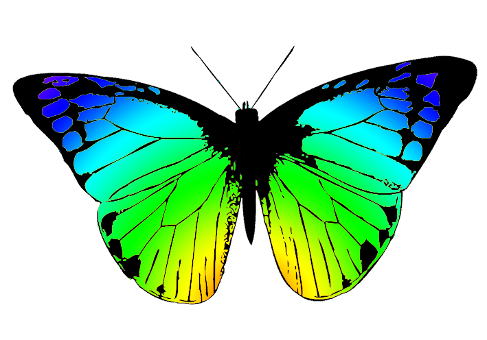 Symmetry clipart butterfly Butterfly with Butterfly Clipart greenish