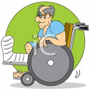 Legs clipart cast on People (67+) cartoon Leg Cast