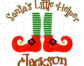 Legs clipart christmas elf With Etsy Iron name digital