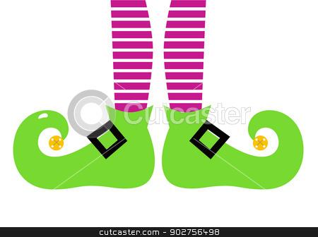 Legs clipart christmas elf On stock Cute cartoon Elf
