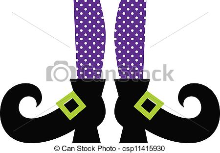Boots clipart witch Legs Cute of Purple on