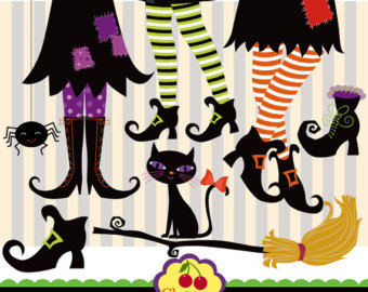 Legz clipart cute halloween witch Boots Witch art Digital Witch
