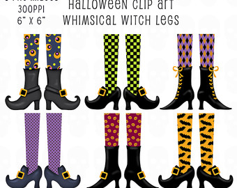 Legz clipart cute halloween witch Witch Embellishments Etsy Legs Clip