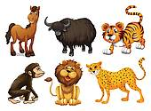 Legz clipart four Clip Animals Art GoGraph legged