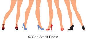 Legs clipart illustration Designer heel Female in legs
