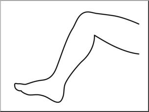 Legs clipart limb Of I of B&W Clip