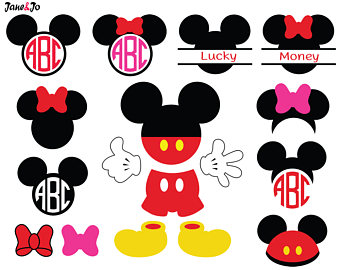 Mickey Mouse clipart apple Svg Etsy Minnie Svg Minnie