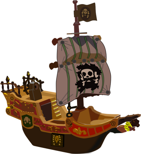 Legs clipart pirate Full and the piece sails