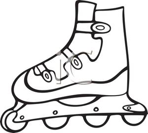 Blade clipart cartoon  Inline Picture A Rollerblade