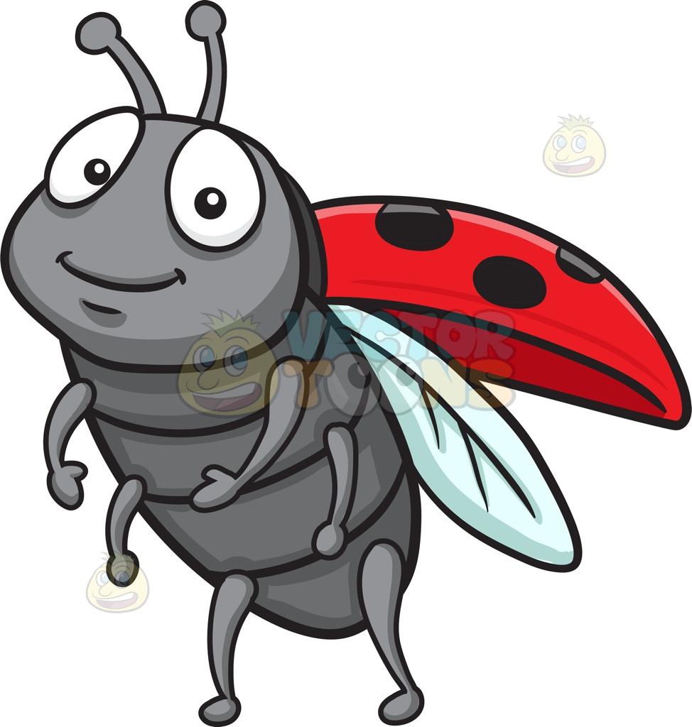 Legs clipart six Clipart An Ladybug Ladybug Grey