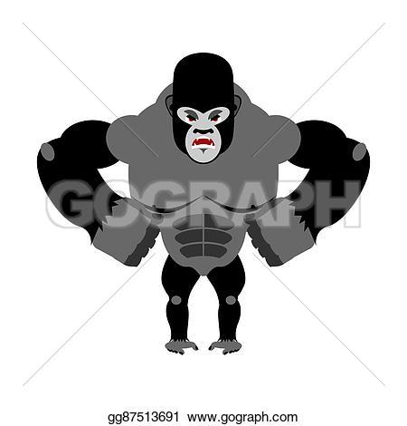 Legz clipart strong Vector gorilla large hind predator