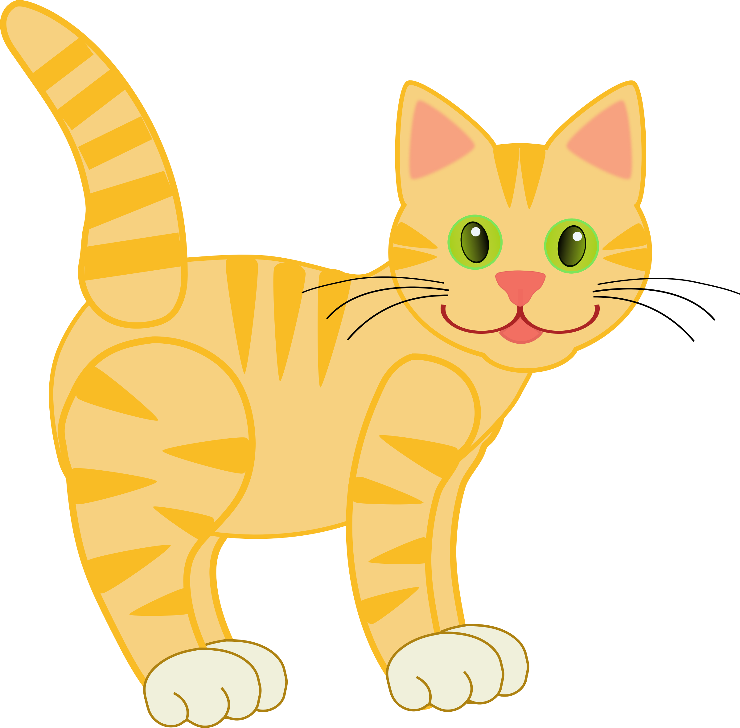 Tiger clipart yellow #13