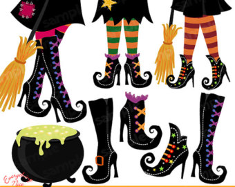 Boots clipart witch Clipart Witchy Etsy Witch shoes