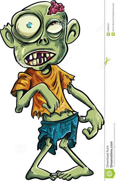 Zombie clipart cartoon character  Find on (600×500) Royalty
