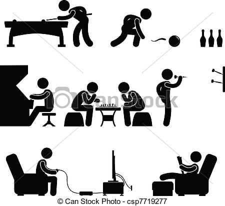 Leisure clipart black and white #3