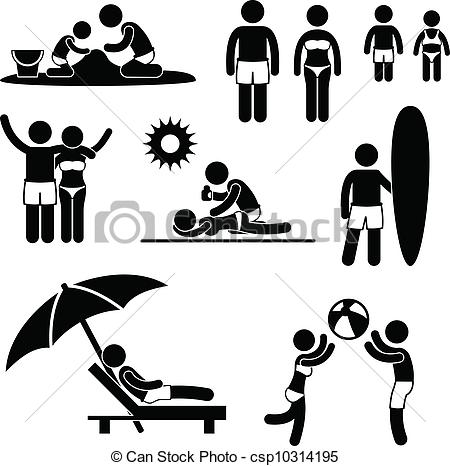 Leisure clipart black and white #4