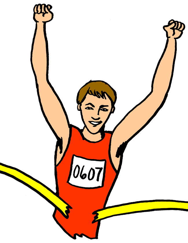 Winning clipart runner Clipart Cartoon Free Perfect Free
