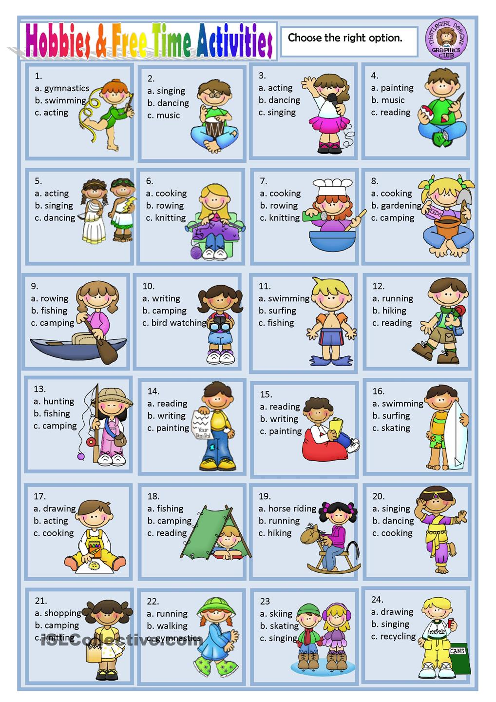 Vacation clipart free time activity FREE HOBBIES ACTIVITIES Pinterest TIME