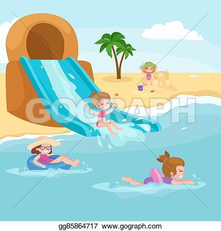 Vacation clipart kid beach Bathing Art a Children cute