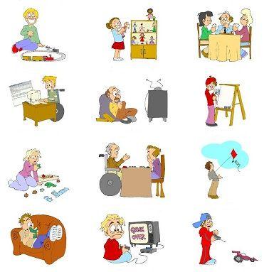 Leisure clipart pasatiempos Pasatiempos Los Vocabulario on Pinterest