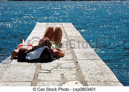 Leisure clipart sun tanning #1