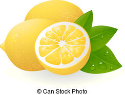 Lemon clipart And leaves free Clipart vector