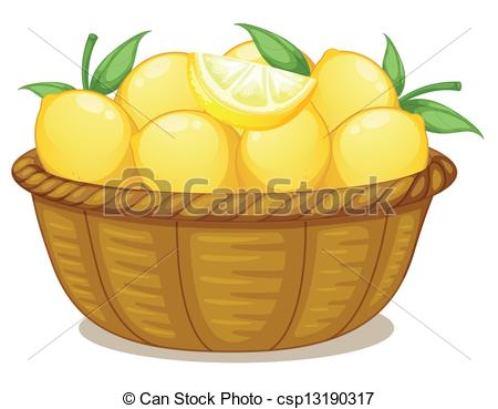 Mango clipart basket mango A Vector Illustration csp13190317 lemons
