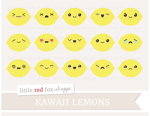 Lemon clipart cute Themes  Fonts Templates Graphics