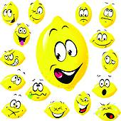 Lemon clipart face Royalty GoGraph Face Free cartoon;