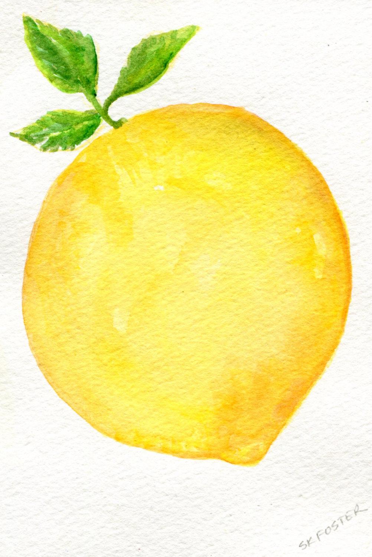 Lemon clipart painted Lemon watercolor Watercolors Original 6