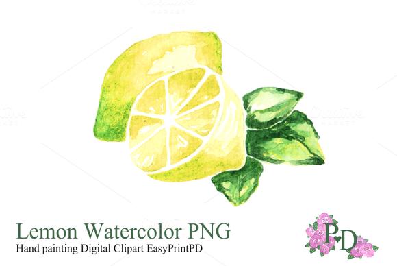 Lemon clipart painted Watercolor Fruit Clipart PNG