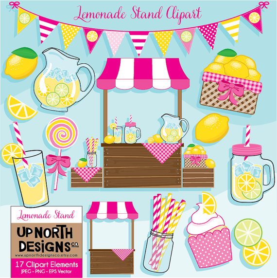 Lemon clipart stand With cupcake Clipart  Lemonade
