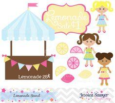 Lemon clipart stand Invitation design mason lemonade summer