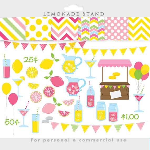 Lemon clipart stand Clipart pink Lemonade Lemonade summer