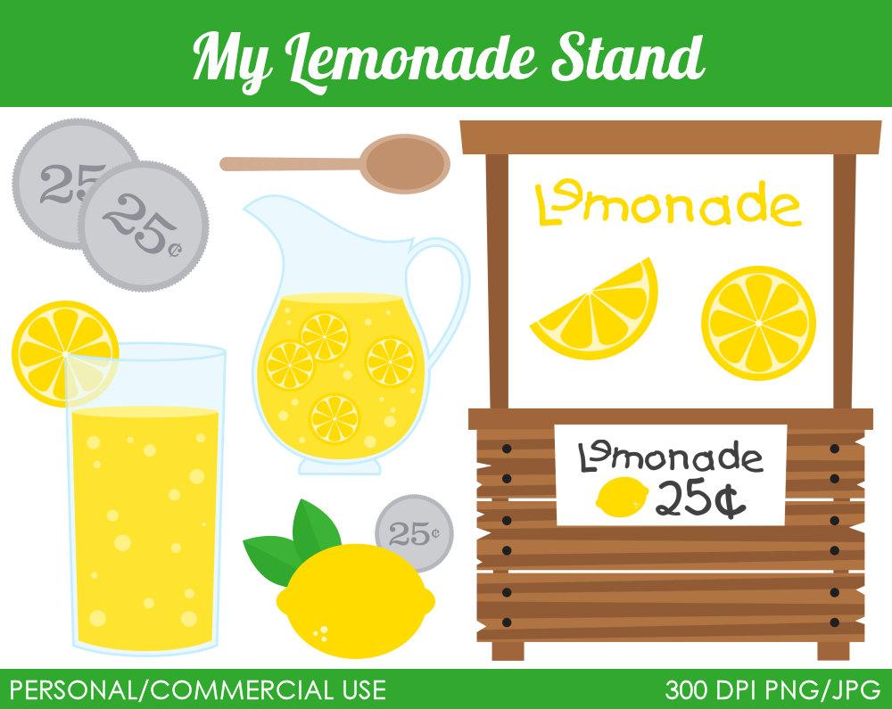 Lemon clipart stand Digital Graphics Clipart Art Lemonade