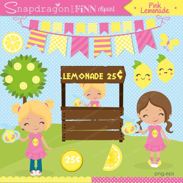 Lemon clipart stand Lemon Commercial clipart Etsy Rainbow