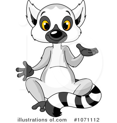 Lemur clipart By by Clipart #1071112 (RF)