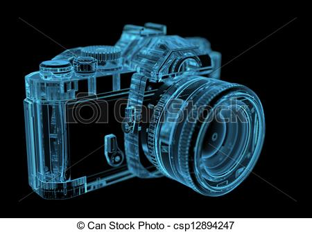 Photography clipart slr camera (3D SLR csp12894247 DSLR blue