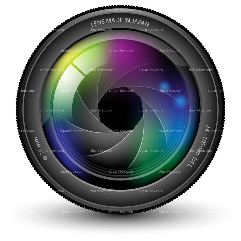 Photography clipart camera lens Royalty CLIPART vector free free