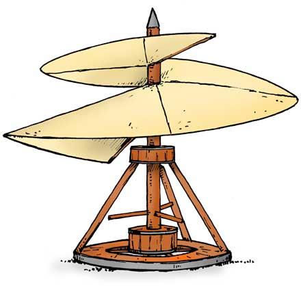 Leonardo Da Vinci clipart Leonardo Da Vinci Inventions Vinci's device actually of he