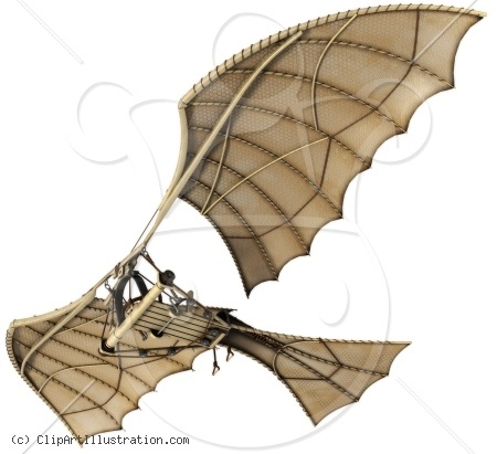Leonardo Da Vinci clipart Leonardo Da Vinci Inventions Ornithopter machine Vinci flying Pinterest