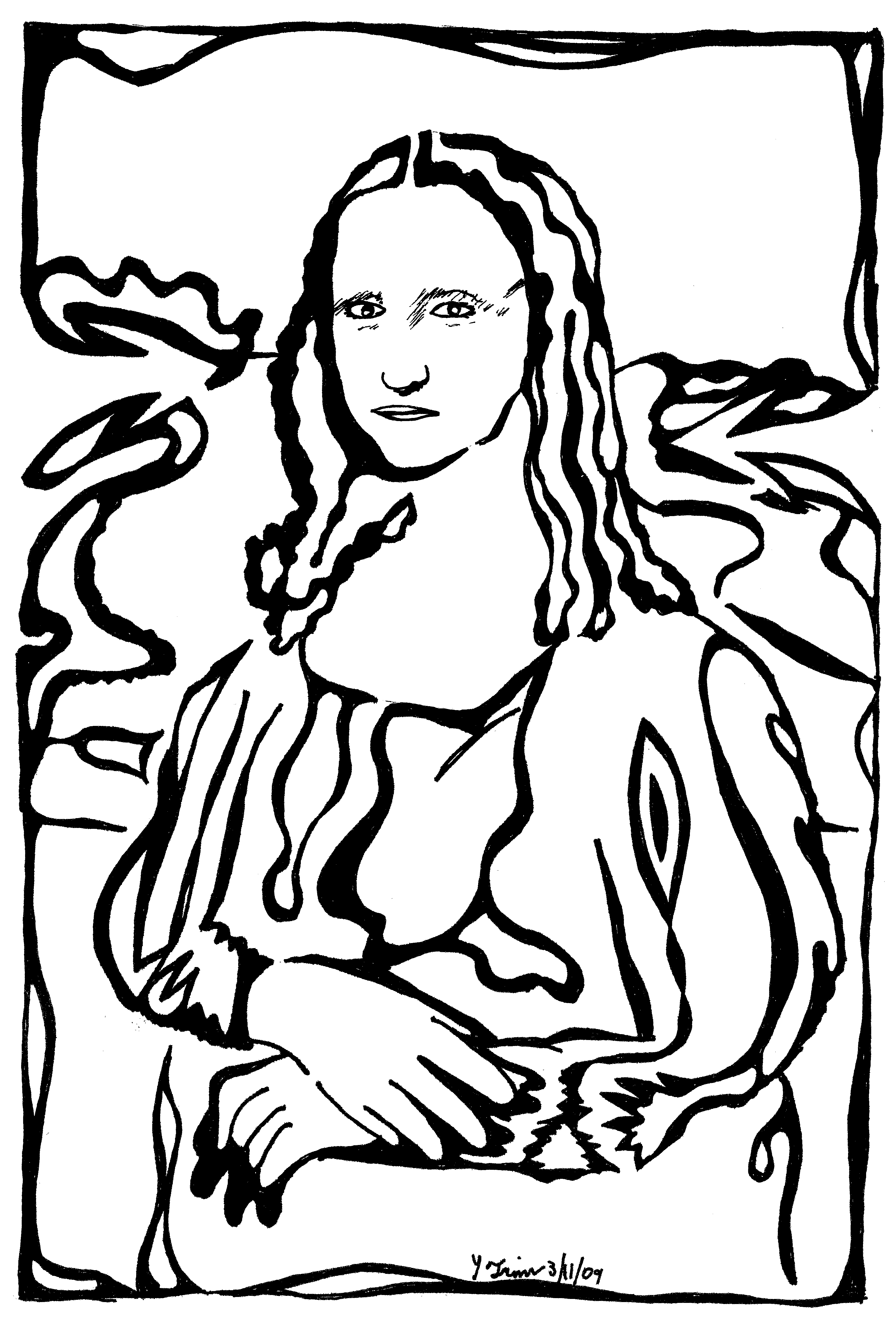 Mona Lisa clipart cartoon Clip  Lisa Clipart Free