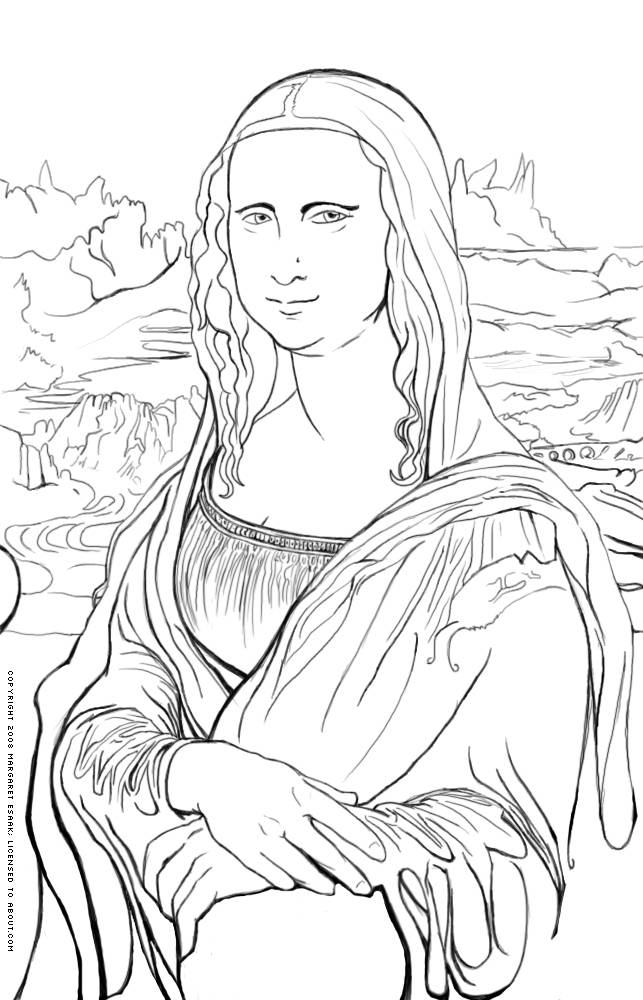 Leonardo Da Vinci clipart Michelangelo Mona ideas Free History Coloring