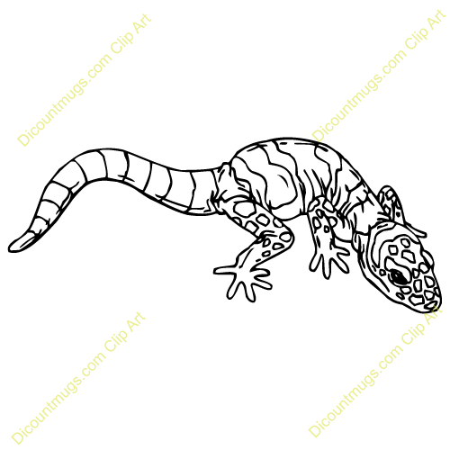Leopard Lizard clipart silhouette On about  Pinterest images
