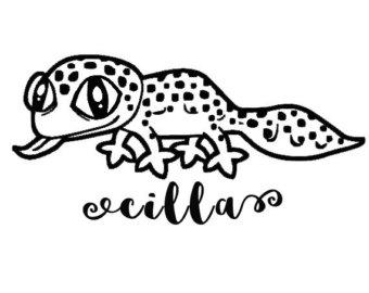 Leopard Lizard clipart crested Geckos Gecko Decal Crested Reptile