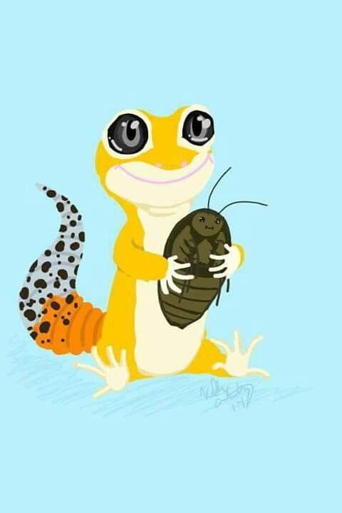 Leopard Lizard clipart crested On Leopard Leopard images Geckos