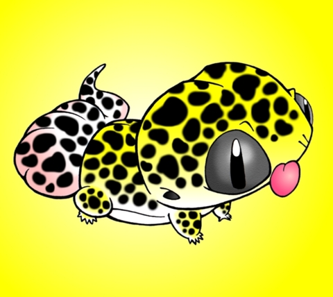 Leopard Lizard clipart cute baby Gecko Leopard PETISM: :: Patch