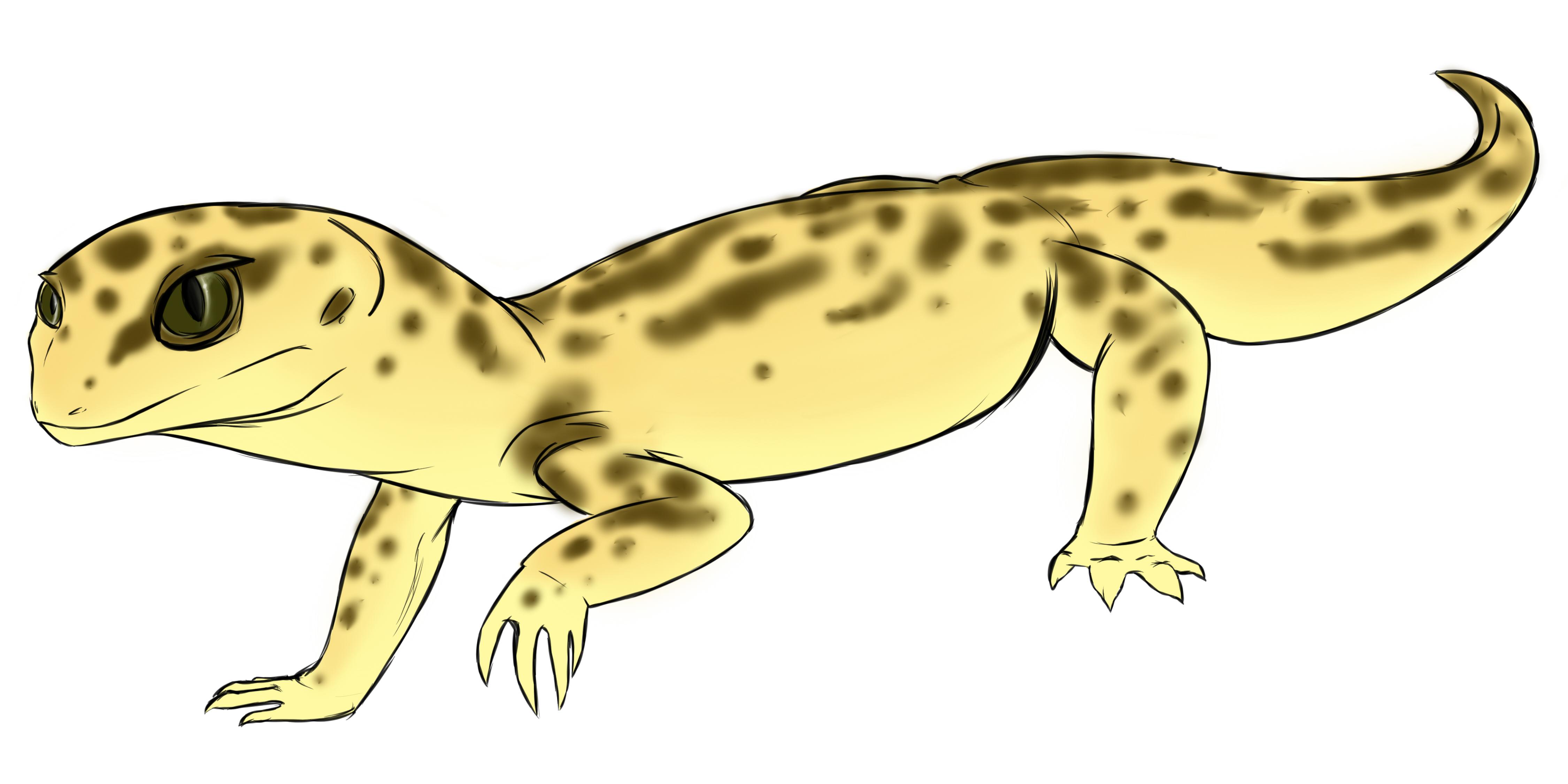 Leopard Lizard clipart Gecko Leopard Gecko Weasyl —