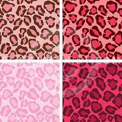 Leopard Skin clipart illustrator Of Leopard Print Set Leopards