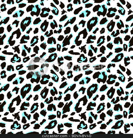 Leopard Skin clipart turquoise #1